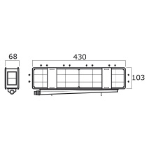 Mini Combi Plus szerelődoboz 430x103x68 mm vízszintes csatlakozással
