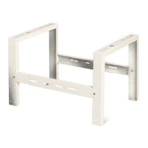 Flat rooftop mounting cube bracket for outdoor units